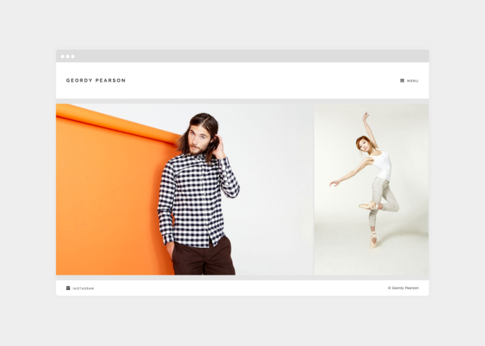 Geordy Pearson responsive web design by Ryan Paonessa