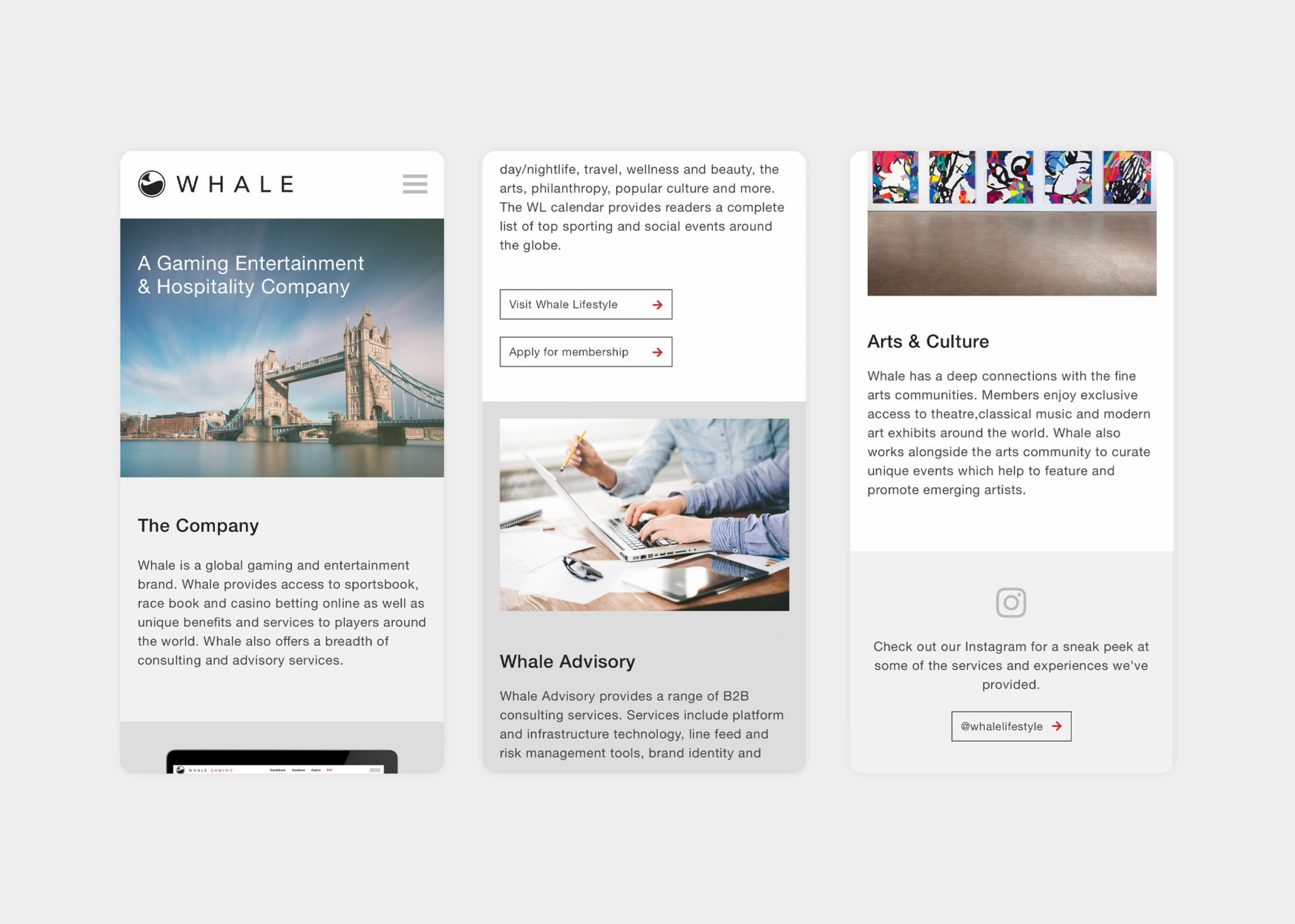 Whale Global responsive web design by Ryan Paonessa